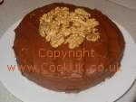 Chocolate Cake decorated with walnuts. Click picture to enlarge. Copyright David Marks