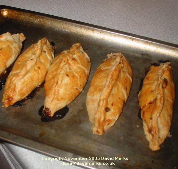 Brush the sides of the pasties with the egg (to give a browned colour