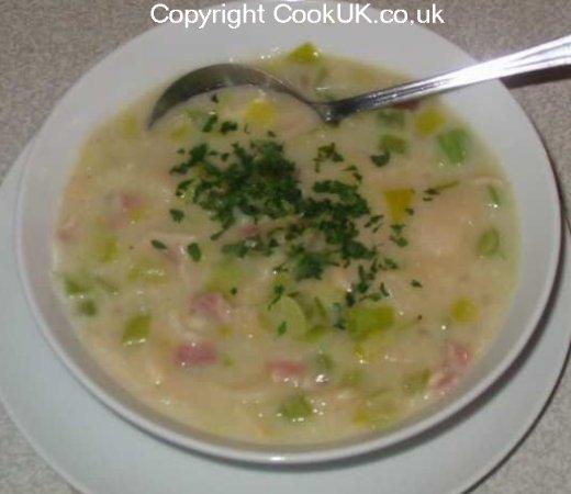 Butter Bean Leek And Bacon Soup Recipe Cookuk Recipes