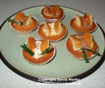 Cooked butterfly cakes