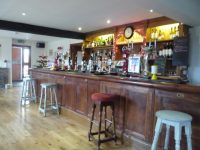view of the bar in the Red Lion