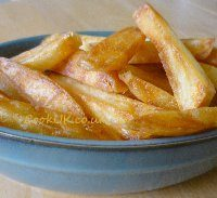 Oven chips ready for cooking