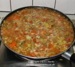 Cooking minestrone soup