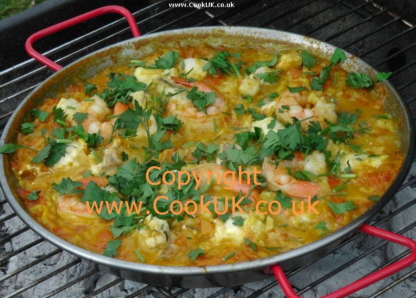 Seafood Paella - from CookUK