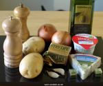 Ingredients for Potato and Cheese soup