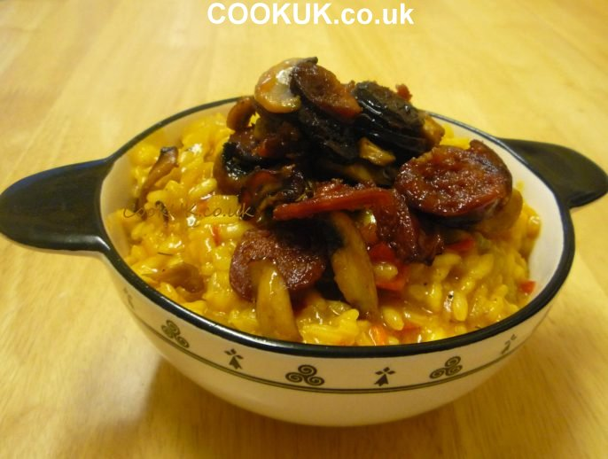 Chorizo and Mushroom Risotto Recipe with pictures - CookUK