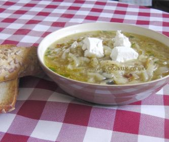 Roasted Onion and Goat's Cheese Soup