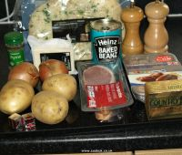 Ingredients for Sausage and Potato Bake