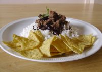 Chilli con Carne served with tortillas