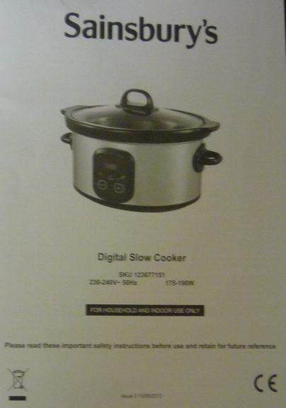 Slow Cooker Innstructions Cookuk Recipes