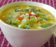 Thai Chicken Soup in a bowl