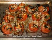 Roasted tomatoes. Click picture to enlarge.