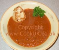 Tomato soup. Click picture to enlarge.